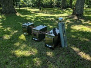 Ekstern rustfritt stål ovn for badestamper [rektangulær modell] (5)