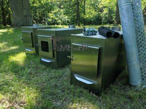 Ekstern rustfritt stål ovn for badestamper [rektangulær modell] (7)
