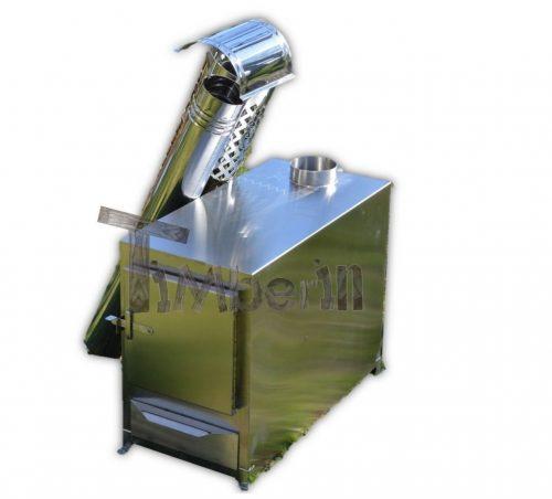 Utvendig ovn for badestamp rektangulær