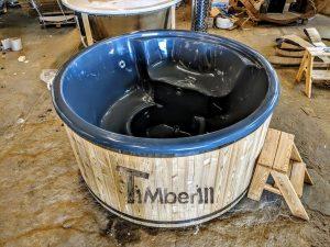 Badestamp i glassfiber med integrert ovn Sibirsk gran, lerk [Wellness Deluxe] (11)