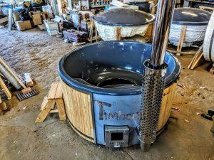 Badestamp i glassfiber med integrert ovn Sibirsk gran, lerk [Wellness Deluxe] (4)