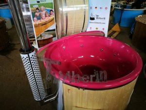 Badestamp i glassfiber med integrert ovn levende farger (1)