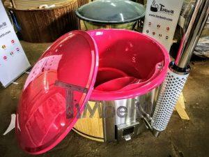 Badestamp i glassfiber med integrert ovn levende farger (10)