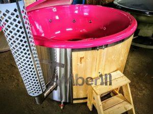 Badestamp i glassfiber med integrert ovn levende farger (11)