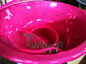 Badestamp i glassfiber med integrert ovn levende farger (12)