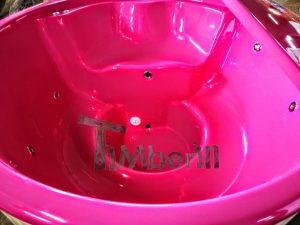 Badestamp i glassfiber med integrert ovn levende farger (13)