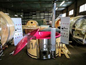 Badestamp i glassfiber med integrert ovn levende farger (15)