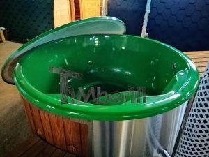 Badestamp i glassfiber med integrert ovn levende farger (17)