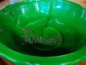 Badestamp i glassfiber med integrert ovn levende farger (19)