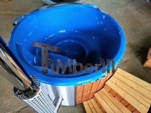 Badestamp i glassfiber med integrert ovn levende farger (20)