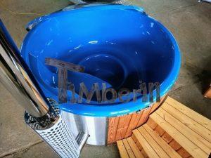 Badestamp i glassfiber med integrert ovn levende farger (21)