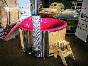 Badestamp i glassfiber med integrert ovn levende farger (6)