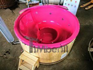 Badestamp i glassfiber med integrert ovn levende farger (8)
