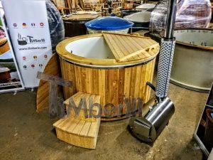 Badestamp i glassfiber med utvendig ovn (3)