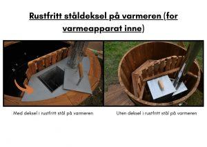 Rustfritt staldeksel pa varmeren (for varmeapparat inne)
