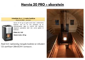 Harvia 20 PRO + skorstein til tunsa badstuen