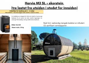 Harvia M3 SL + skorstein til tunsa badstuen