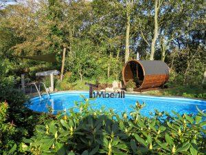 Udendørs sauna tønde i træ til haven, Ole, Nibe, Denmark (5)