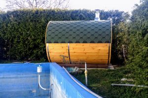 Utendørs badstuer sauna tønne (2)