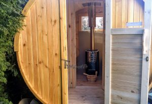 Utendørs badstuer sauna tønne (4)