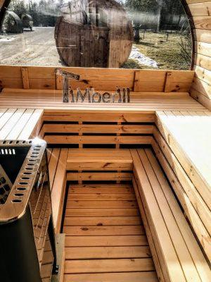 Utendørs vedfyrt tønne badstuer (14)