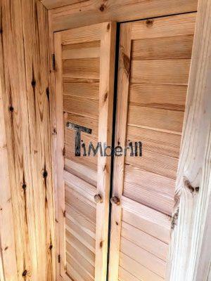 Utendørs vedfyrt tønne badstuer (18)