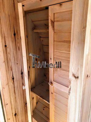 Utendørs vedfyrt tønne badstuer (19)