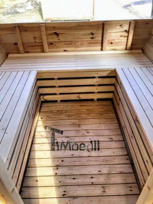 Utendørs vedfyrt tønne badstuer (20)