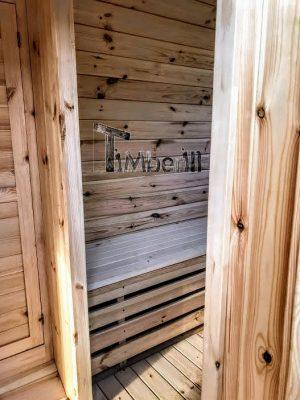 Utendørs vedfyrt tønne badstuer (21)