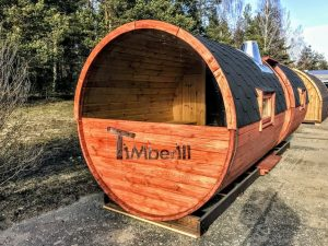 Utendørs vedfyrt tønne badstuer (3)