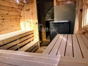 Utendørs vedfyrt tønne badstuer (4)
