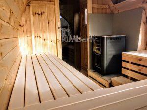 Utendørs vedfyrt tønne badstuer (5)