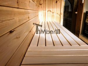 Utendørs vedfyrt tønne badstuer (6)