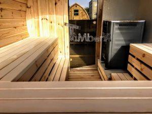 Utendørs vedfyrt tønne badstuer (7)