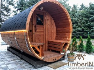 Utendørs badstuer sauna tønne (1)
