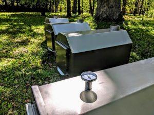 Ekstern rustfritt stål ovn for badestamper [Octagon modell] (17)