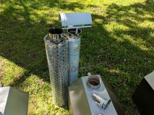 Ekstern rustfritt stål ovn for badestamper [Octagon modell] (30)