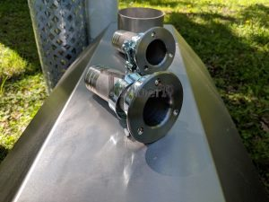 Ekstern rustfritt stål ovn for badestamper [Octagon modell] (31)