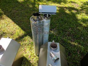 Ekstern rustfritt stål ovn for badestamper [Octagon modell] (34)