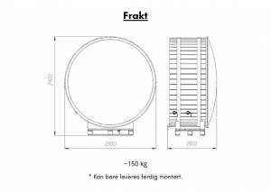 Frakt Utendørs badestamp elektrisk oppvarming ovn