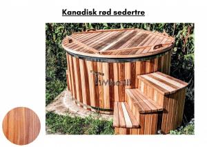 Kanadisk rød sedertre Utendørs badestamp elektrisk oppvarming ovn