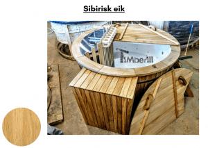 Sibirisk eik Utendørs badestamp elektrisk oppvarming ovn