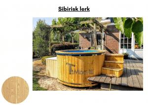 Sibirisk lerk Utendørs badestamp elektrisk oppvarming ovn