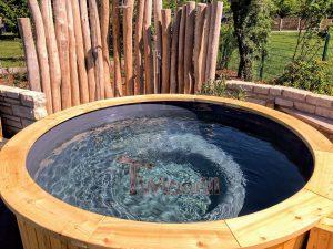 Utendørs badestamp elektrisk oppvarming ovn (6)