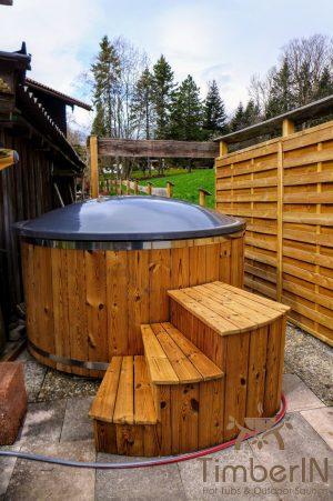 Utendørs badestamp elektrisk oppvarming ovn (1)