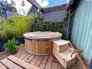 Utendørs badestamp elektrisk oppvarming ovn (2)
