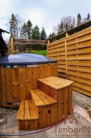 Utendørs badestamp elektrisk oppvarming ovn (3)
