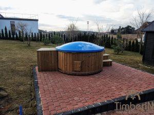 Utendørs badestamp elektrisk oppvarming ovn (4)