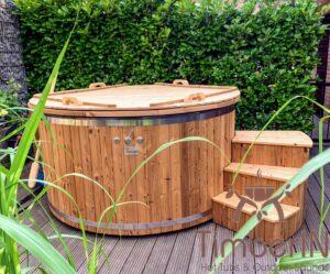 Utendørs badestamp elektrisk oppvarming ovn (5)