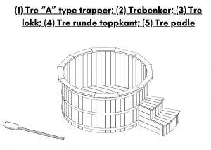 Badestamp i termotre byggesett kit